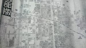 茨木市街地地図1958年茨木駅