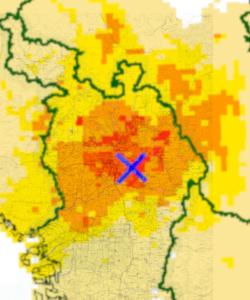 2018年大阪北部地震震央・震度分布