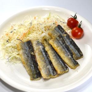 茨木広告宣伝舎 商品写真撮影例(魚フライ盛り付けイメージ)